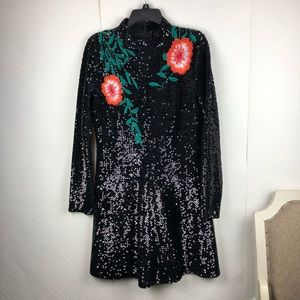 Gianni Bini shine bright sequins embroidered dress